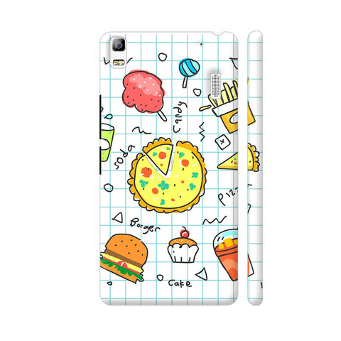 Colorful Fast Food Doodle Lenovo K3 Note Cover | Artist: Ashish Singh