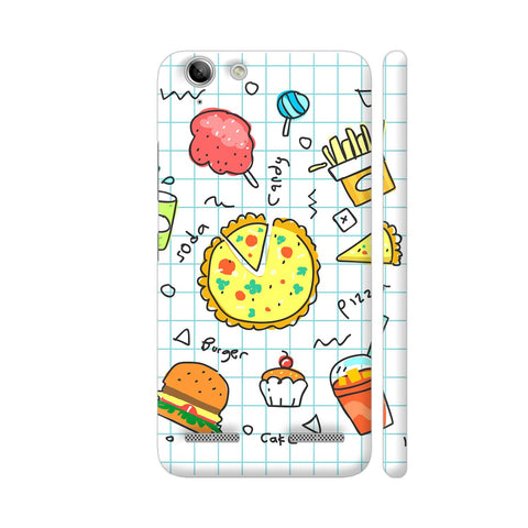 Colorful Fast Food Doodle Lenovo Vibe K5 / K5 Plus Cover | Artist: Ashish Singh