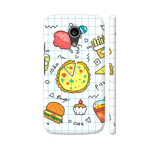 Colorful Fast Food Doodle Moto G2 Cover | Artist: Ashish Singh