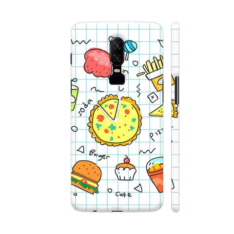 Colorful Fast Food Doodle OnePlus 6 Cover | Artist: Ashish Singh