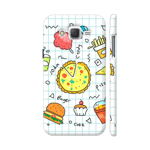 Colorful Fast Food Doodle Samsung J2 (Old) Cover | Artist: Ashish Singh