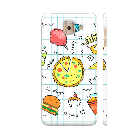 Colorful Fast Food Doodle Samsung J7 Max Cover | Artist: Ashish Singh