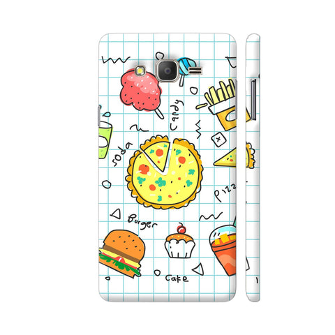 Colorful Fast Food Doodle Samsung J7 Nxt Cover | Artist: Ashish Singh