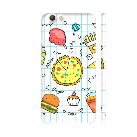 Colorful Fast Food Doodle Vivo Y69 Cover | Artist: Ashish Singh