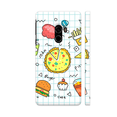 Colorful Fast Food Doodle Xiaomi Mi Mix 2 Cover | Artist: Ashish Singh