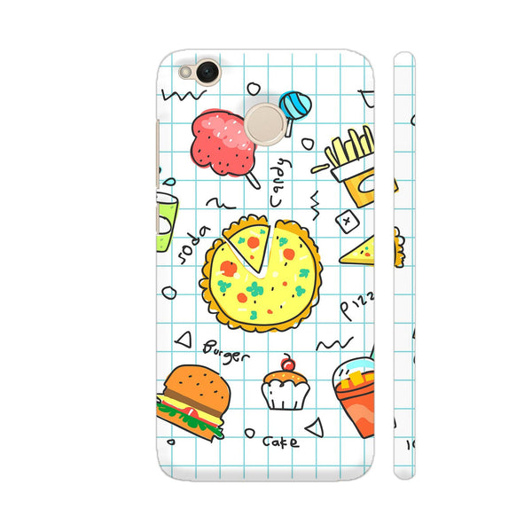 Colorful Fast Food Doodle Xiaomi Redmi 4 Cover | Artist: Ashish Singh