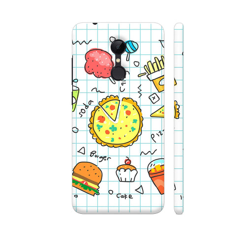 Colorful Fast Food Doodle Redmi 5 Cover | Artist: Ashish Singh