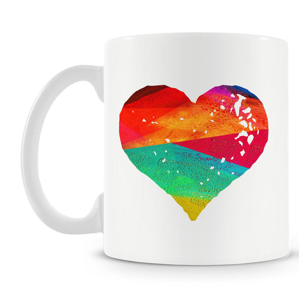 Colorful Strokes Heart Mug
