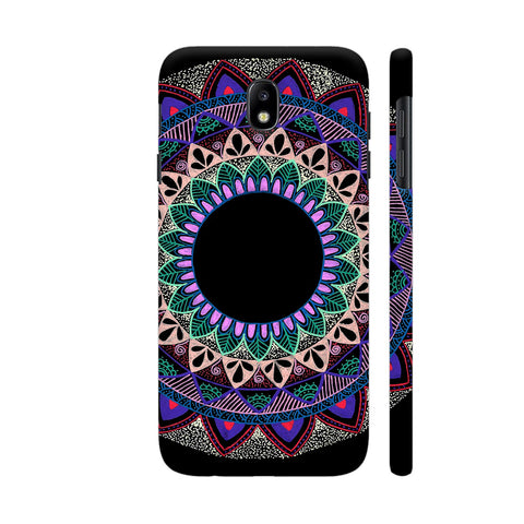 Colourful Mandala On Black Samsung J7 Pro Cover | Artist: My Mandala Tales