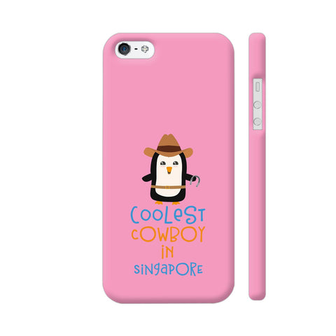 Coolest Cowboy Penguin In Singapore iPhone 5 / 5s Cover | Artist: Torben