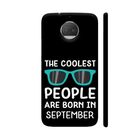 Coolest People Birthday In September Moto G5S Plus Cover | Artist: Torben