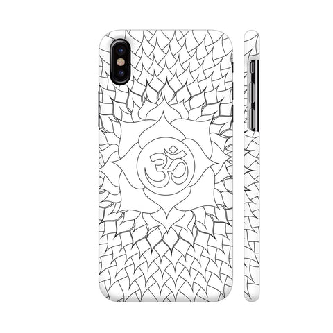 Cosmic Energy Mandala White iPhone X Cover | Artist: Srishti Vataa Healing Arts