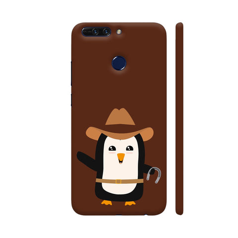 Cowboy Penguin Wild West Honor 8 Pro Cover | Artist: Torben