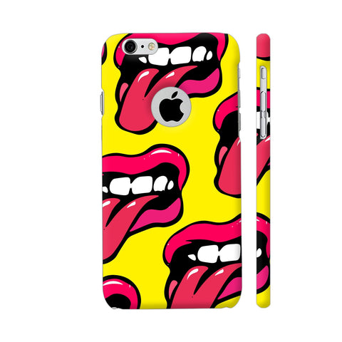 Crazy Lips Design iPhone 6 / 6s Logo Cut Cover | Artist: Malls