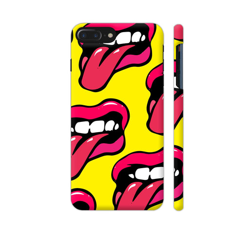Crazy Lips Design iPhone 8 Plus Cover | Artist: Malls