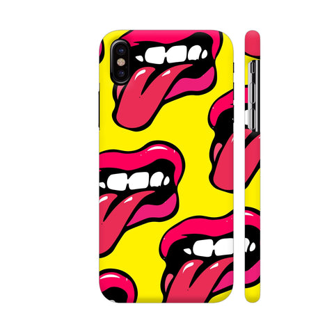 Crazy Lips Design iPhone X Cover | Artist: Malls