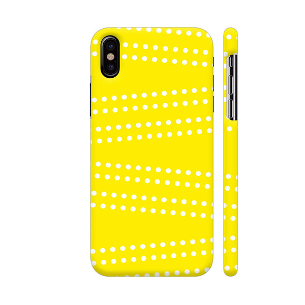 Cross Dot On Yellow iPhone XS Cover | Artist: Astha