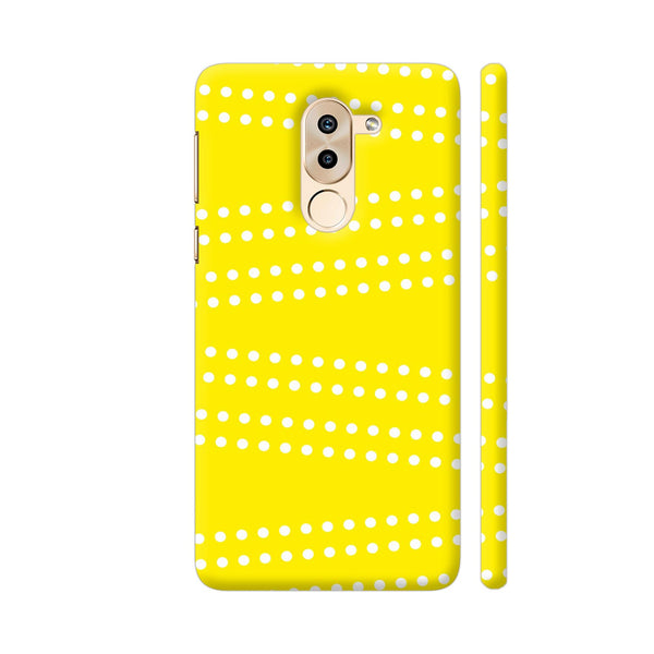 Cross Dot On Yellow Huawei Honor 6X Cover | Artist: Astha