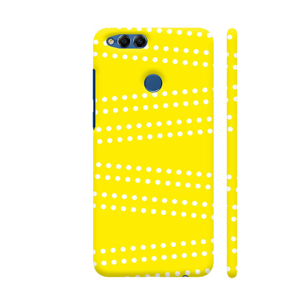 Cross Dot On Yellow Huawei Honor 7X Cover | Artist: Astha