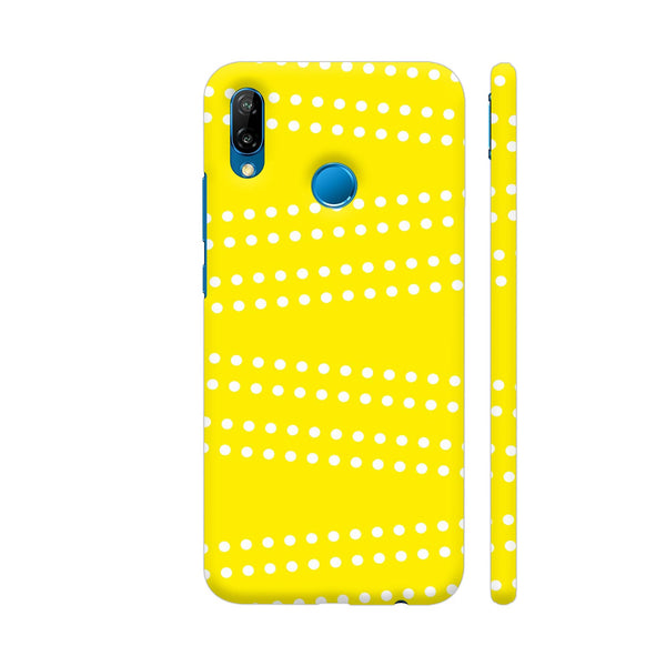 Cross Dot On Yellow Huawei P20 Lite Cover | Artist: Astha