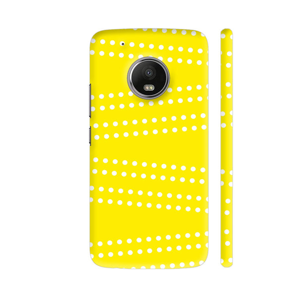 Cross Dot On Yellow Moto G5 Plus Cover | Artist: Astha
