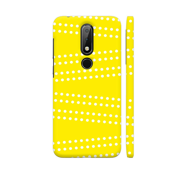 Cross Dot On Yellow Nokia 6.1 Plus Cover | Artist: Astha