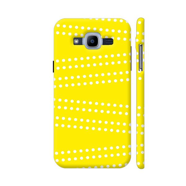 Cross Dot On Yellow Samsung J2 Pro Cover | Artist: Astha