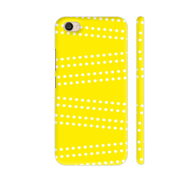 Cross Dot On Yellow Vivo V5 Plus Cover | Artist: Astha