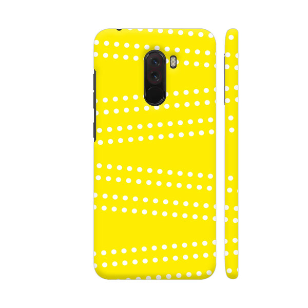 Cross Dot On Yellow POCO F1 Cover | Artist: Astha