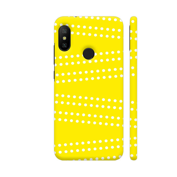 Cross Dot On Yellow Redmi 6 Pro Cover | Artist: Astha