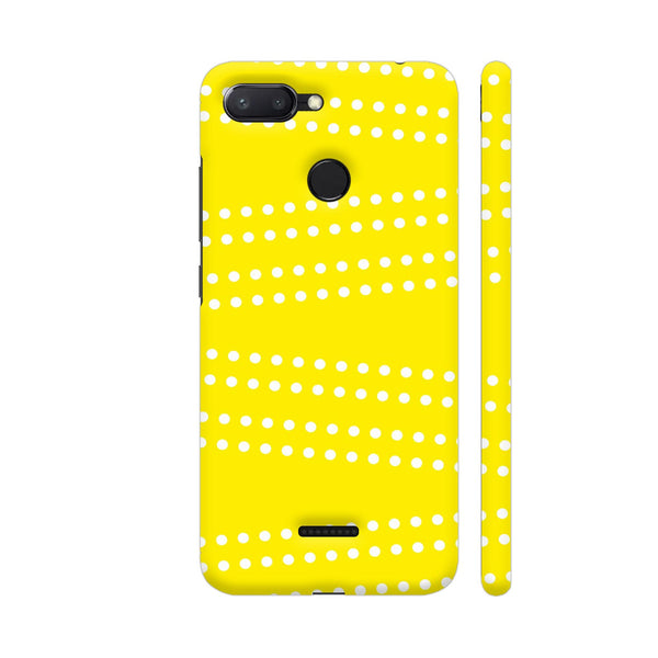 Cross Dot On Yellow Redmi 6 Cover | Artist: Astha