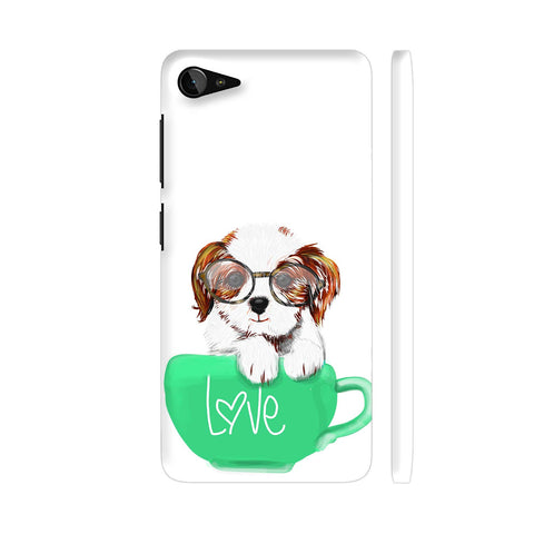Cute Dog In Green Love Mug Lenovo Z2 Plus Cover | Artist: Abhijeet Sinha