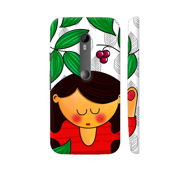 Cute Girl In Garden Moto G Turbo Cover | Artist: Woodle Doodle