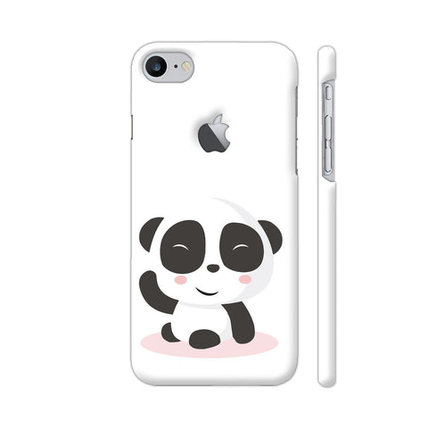 Cute Panda iPhone 7 Logo Cut Cover | Artist: Ashish Singh
