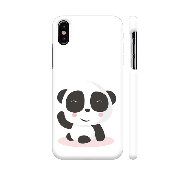 Cute Panda iPhone X Cover | Artist: Ashish Singh