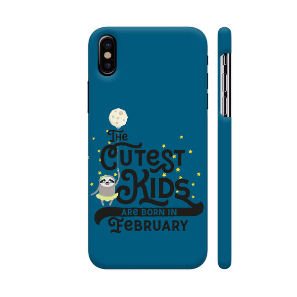 Cutest Kids Sloth Born In February iPhone X Cover | Artist: Torben