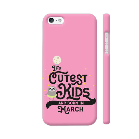Cutest Kids Sloth Born In March iPhone 5 / 5s Cover | Artist: Torben