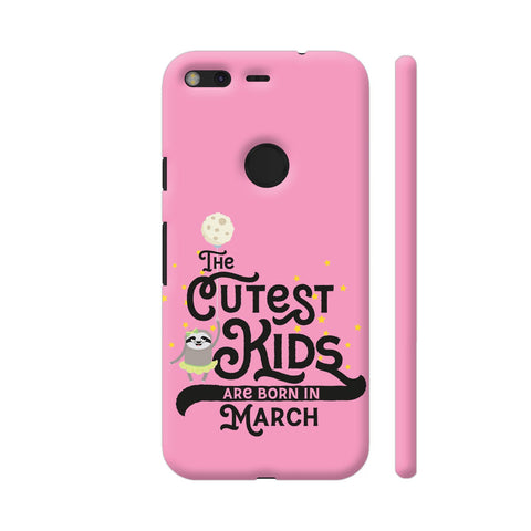 Cutest Kids Sloth Born In March Google Pixel Cover | Artist: Torben