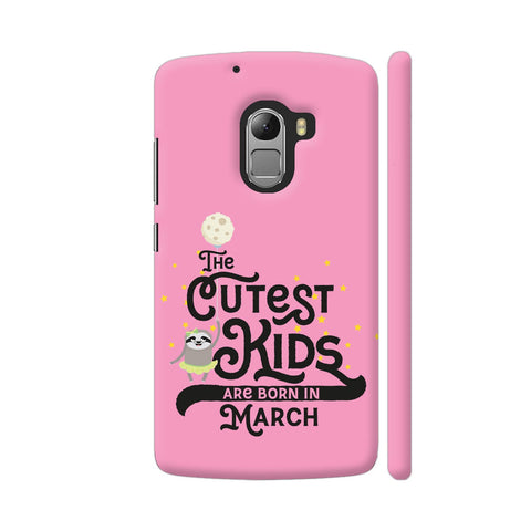 Cutest Kids Sloth Born In March Lenovo K4 Note Cover | Artist: Torben