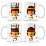 Dancing Indian Kids Mug (Set of 4)