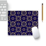 Decorative Pattern On Blue 8 Mouse Pad Black Base | Artist: Divakar Vikramjeet Singh