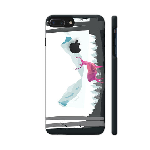 Deer Magic In The Forest iPhone 7 Plus Logo Cut Cover | Artist: Adeela Abdul Razak