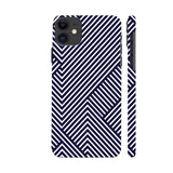 Diagonal Stripes Blue iphone 11 Cover | Artist: Abhinav