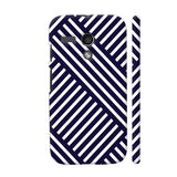 Diagonal Stripes Blue Motorola Moto G1 Case