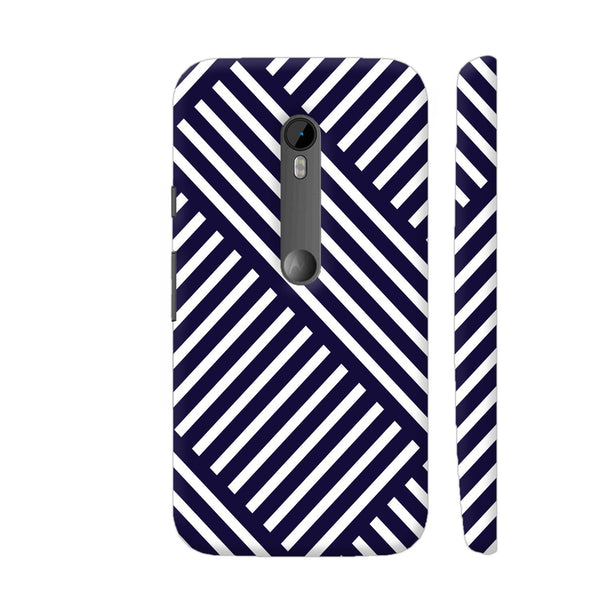 Diagonal Stripes Blue Moto G3 Cover | Artist: Abhinav