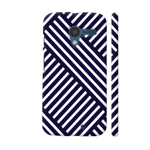 Diagonal Stripes Blue Moto X1 Cover | Artist: Abhinav