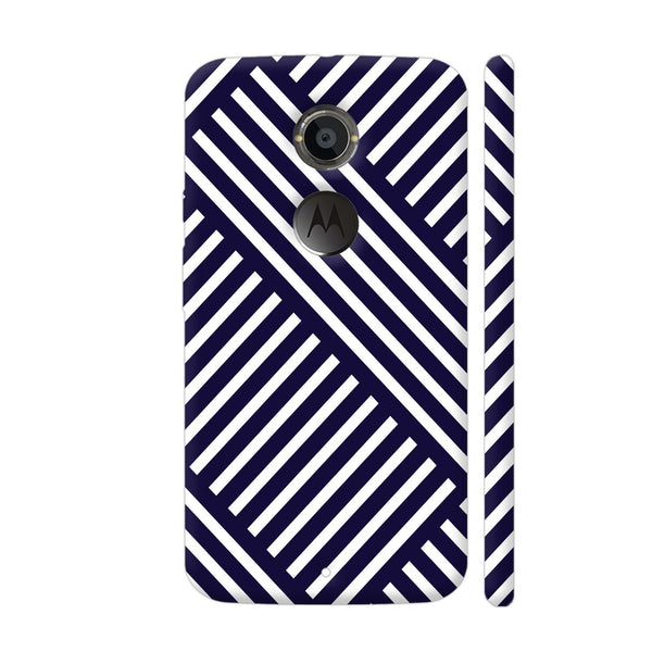 Diagonal Stripes Blue Moto X2 Cover | Artist: Abhinav