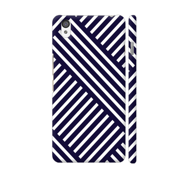 Diagonal Stripes Blue OnePlus X Cover | Artist: Abhinav