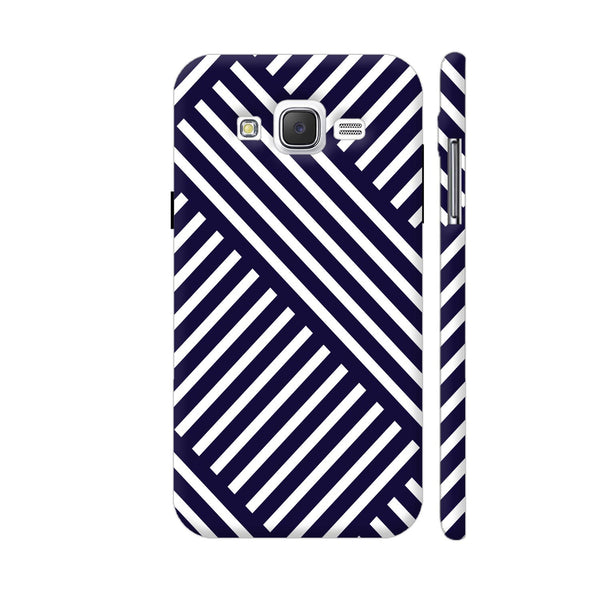 Diagonal Stripes Blue Samsung Galaxy J5 Case