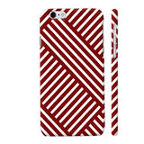 Diagonal Stripes Red iPhone 6 / 6s Cover | Artist: Abhinav